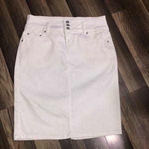 Women's white Jean Skirt